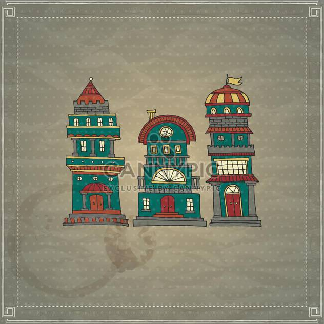 cartoon antique castle towers - Free vector #135184