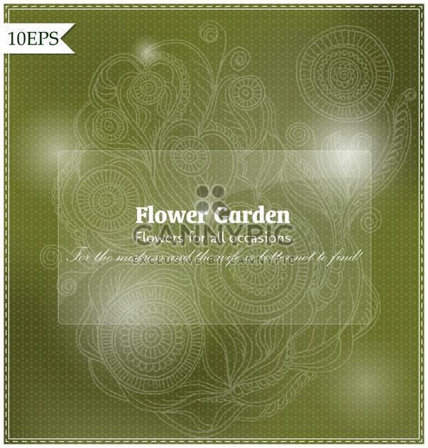 abstrakt grün floral Vektor Hintergrund - Kostenloses vector #135234
