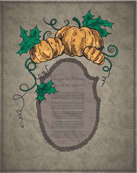 Happy halloween card with pumpkins - Free vector #135264