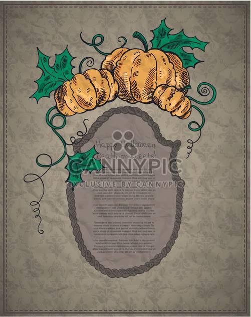 Happy Halloween-Card mit Kürbisse - Kostenloses vector #135264