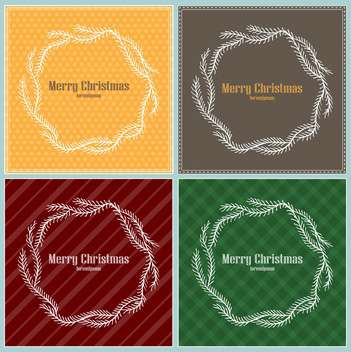 Set of Christmas holiday frames - vector gratuit #135304