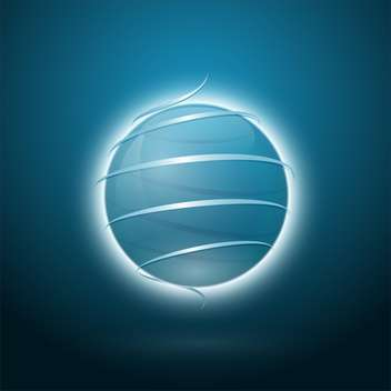 Vector illustration of abstract sphere design on blue background - Free vector #125754