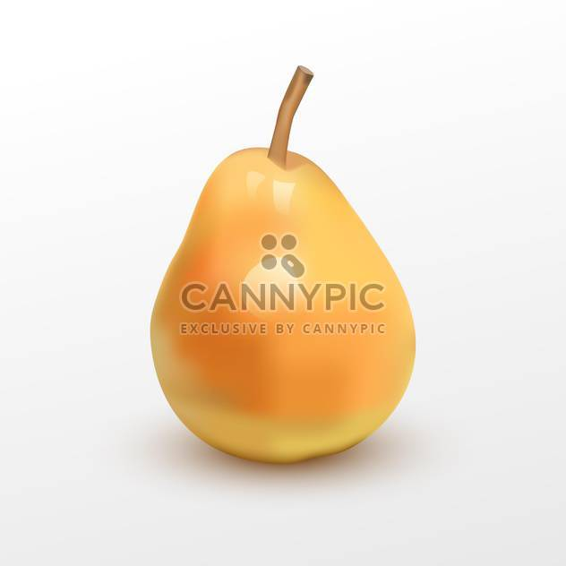 Vector illustration of juicy ripe pear on white background - Free vector #125764