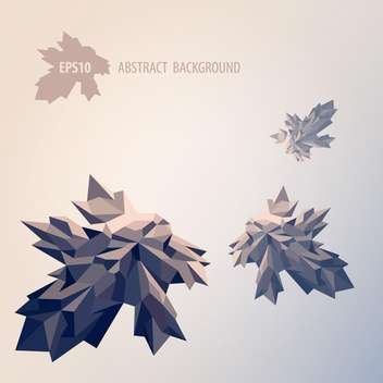 Vector illustration of abstract background with geometric leaves on grey background - бесплатный vector #125774