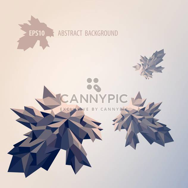 Vector illustration of abstract background with geometric leaves on grey background - Free vector #125774