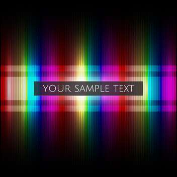 colorful illustration of colorful rainbow background with place for text - vector #125794 gratis