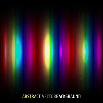 Vector illustration of black background with rainbow dyes stripes - Free vector #125914