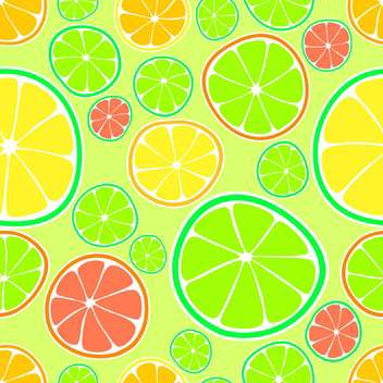 fresh vector background with colorful citruses - vector gratuit #125974
