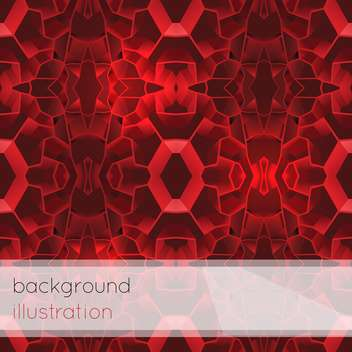 Vector illustration of red geometric abstract background for design - vector #126024 gratis
