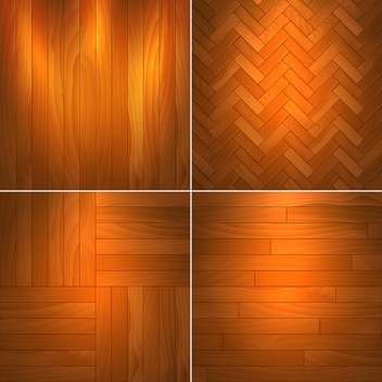Vector illustration set of brown wooden textures - бесплатный vector #126044