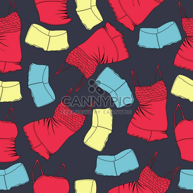 Vector background with colorful female underwear - Kostenloses vector #126114