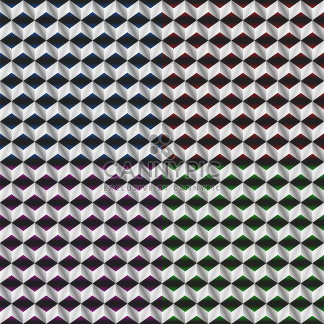 vector illustration of abstract monochrome cubes background - Free vector #126134