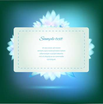 Invitation card on green background with colorful flowers - vector gratuit #126144