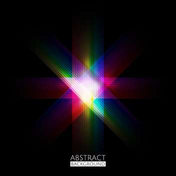 Vector illustration of abstract colorful dark pattern background - Free vector #126164