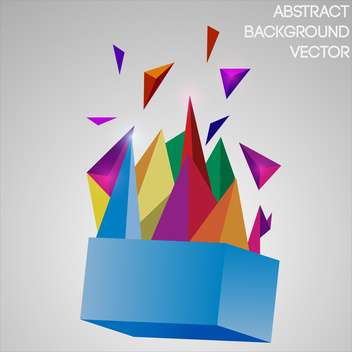 Vector abstract background with colorful geometric objects - vector gratuit #126264
