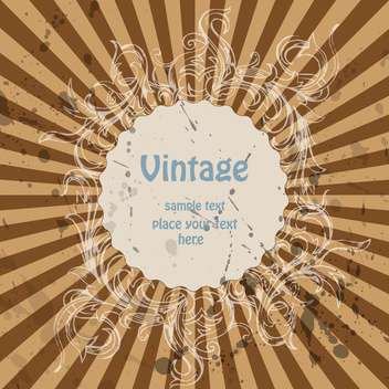 Vector vintage background with stripes and floral pattern - Free vector #126284