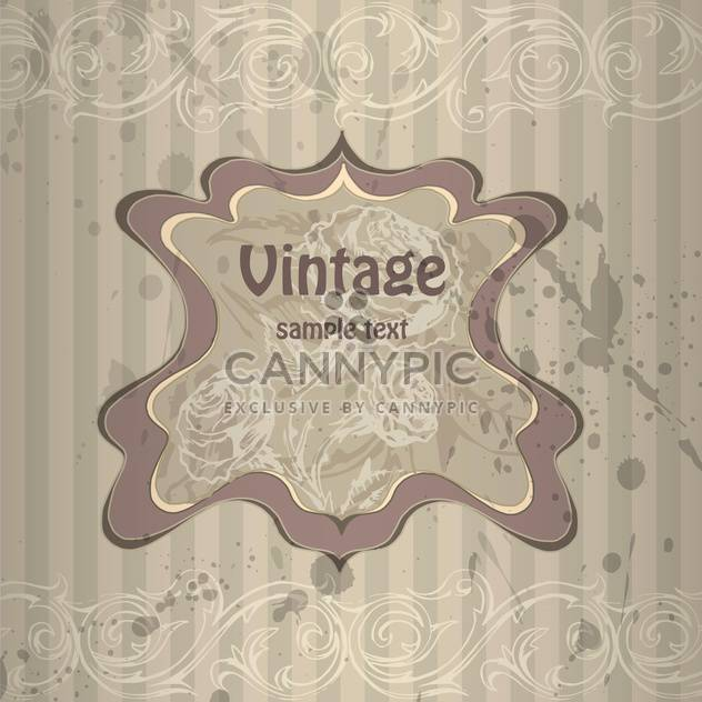 Vector vintage grey background with floral pattern - Free vector #126394