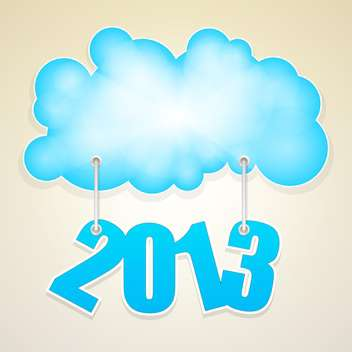 Vector blue cloud with numbers of new year 2013 - vector gratuit #126514