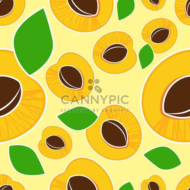 Vector illustration of yellow background with ripe apricots - Free vector #126604