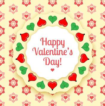 vector illustration of greeting card for Valentine's day - vector gratuit #126684