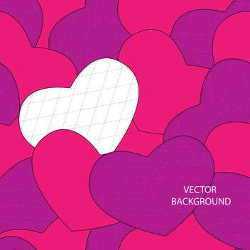 Valentine's day greeting card background with hearts - vector gratuit #126774