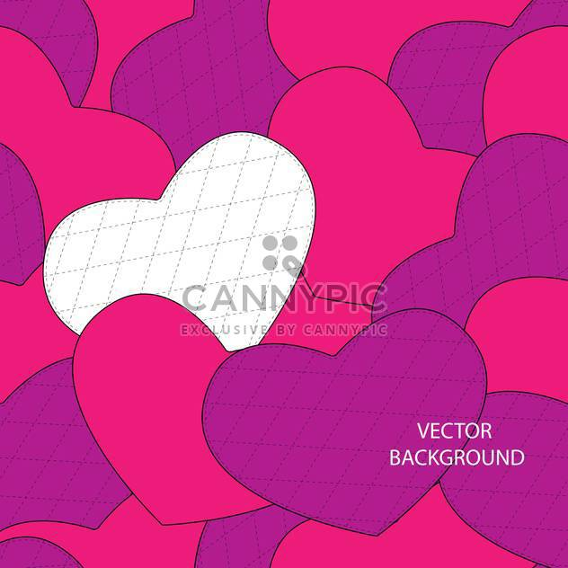 Valentine's day greeting card background with hearts - Free vector #126774