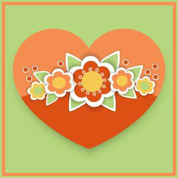 Vector greeting card with floral heart - vector gratuit #126784