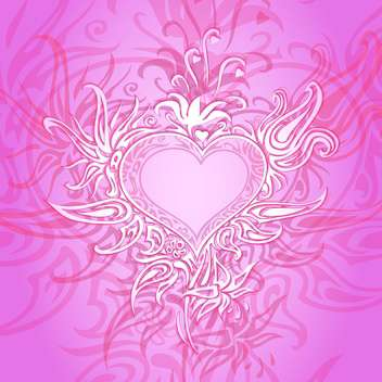 Vector pink background with abstract heart - Free vector #126794