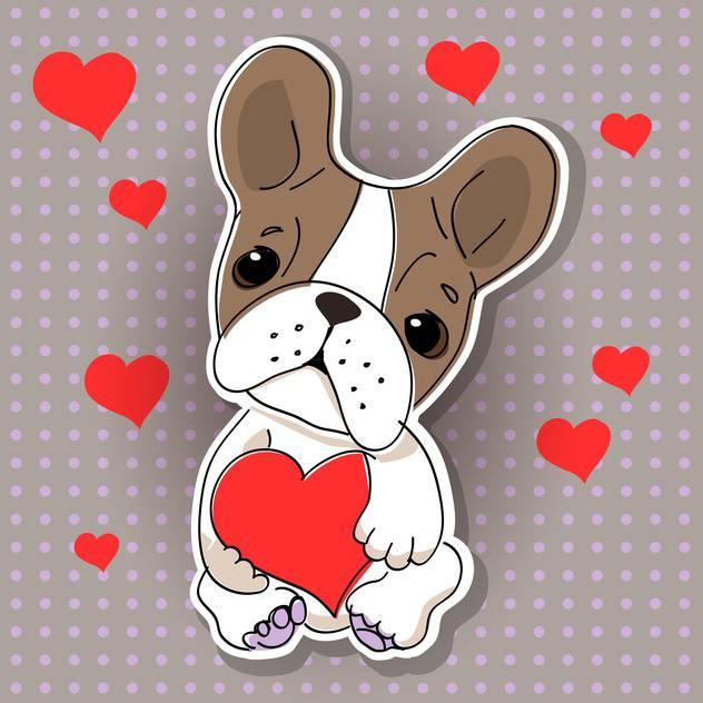 картинки собачек с сердечком выпускается трёх