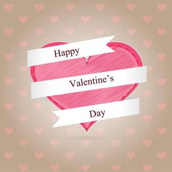 Valentine day background with pink hearts - бесплатный vector #126894