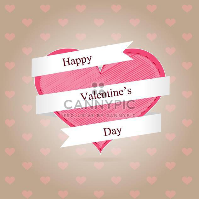 Valentine day background with pink hearts - Free vector #126894