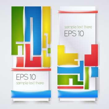 Vector illustration of colorful banners with text place - vector gratuit #126904