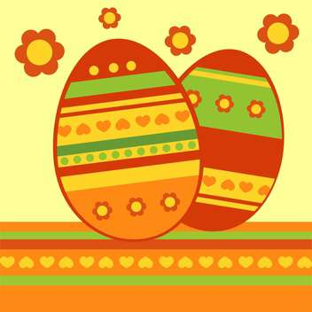 Vector background with colorful easter eggs - vector gratuit #126944
