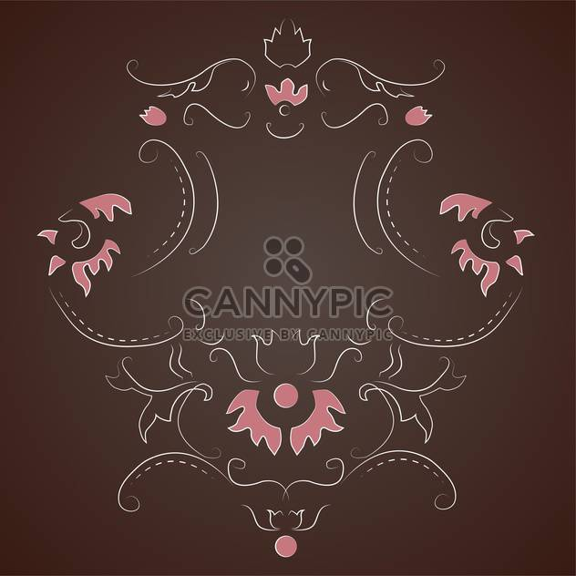 Vector vintage dark background with floral pattern and text place - Free vector #126954