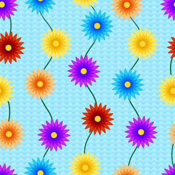 Vector background with colorful flowers with text place - vector gratuit #126984