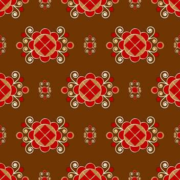 Vector floral brown background with floral pattern - vector gratuit #127004