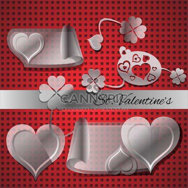 Vector set of elements for Valentine's day - Free vector #127034