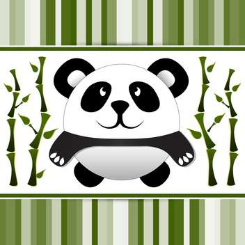 Vector illustration of cute little panda and bamboo - vector gratuit #127094