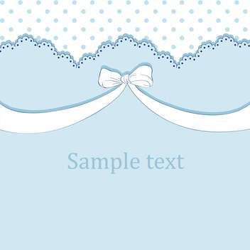 Vector blue background with bow and text place - vector gratuit #127134