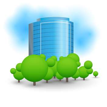 colorful illustration of skyscrapers business centre - vector gratuit #127164