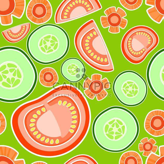Vector colorful background with tomatoes and cucumbers - Kostenloses vector #127204