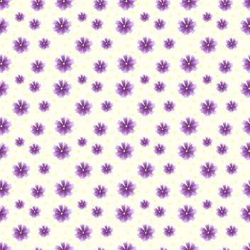 Vector floral background with purple flowers - vector gratuit #127224