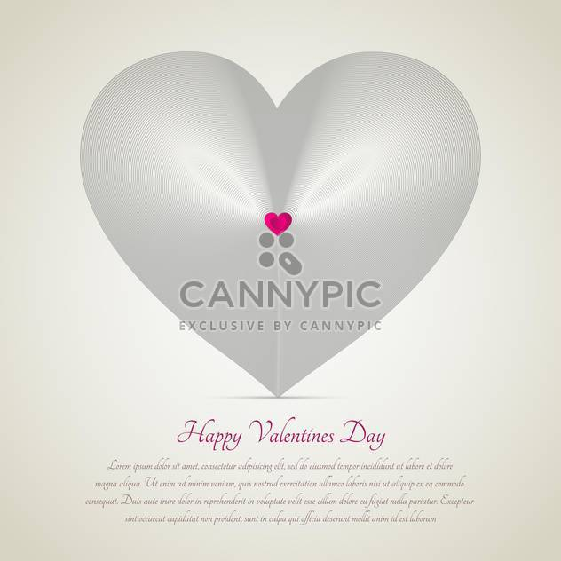 white heart with text place for valentine card - Free vector #127234