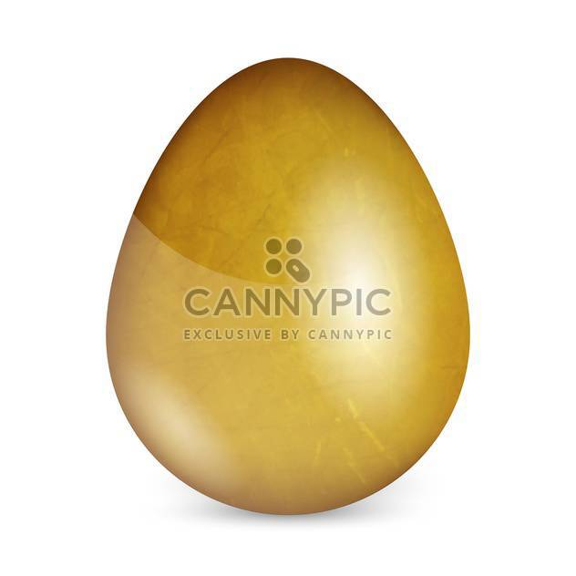 Vector illustration of golden egg on white background - Free vector #127304