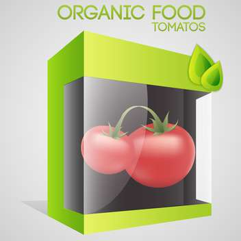 Vector illustration of tomatoes in packaged for organic food concept - vector gratuit #127314