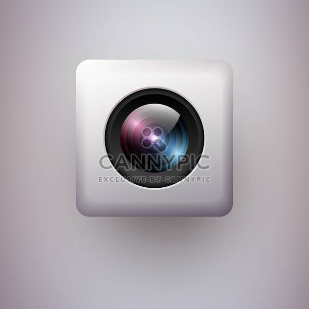 Vector illustration of web camera icon on white background - Free vector #127354
