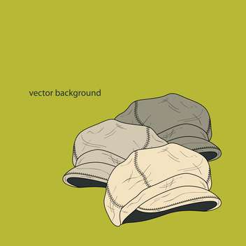 Vector background with fashion male hats - Free vector #127364