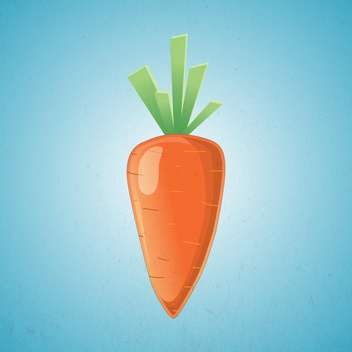 orange carrot Vector Illustration on blue background - бесплатный vector #127404