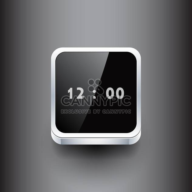 Vector illustration of square clock on dark background - Free vector #127424