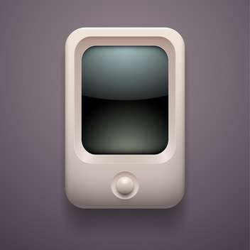 Vector illustration of media player on grey background - vector gratuit #127474